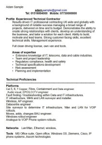 Adam Sample CV