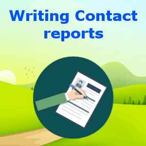 Writing Contact reports
