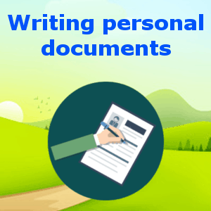Writing personal documents